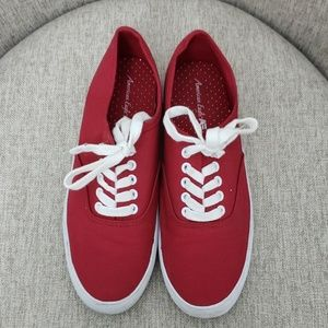 American Eagle Red Sneakers